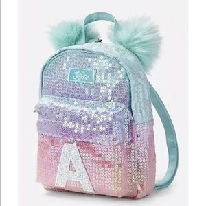7325e0f5d61b NEW Justice Ombre Initial A Mini Backpack NWT